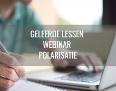 Geleerde lessen webinar Effecten van corona op polarisatie